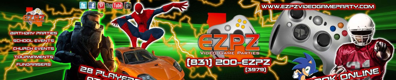 The Central Coast's Premier Mobile Video Game Truck for Birthdays & Fundraisers | EZPZ Video Game Parties